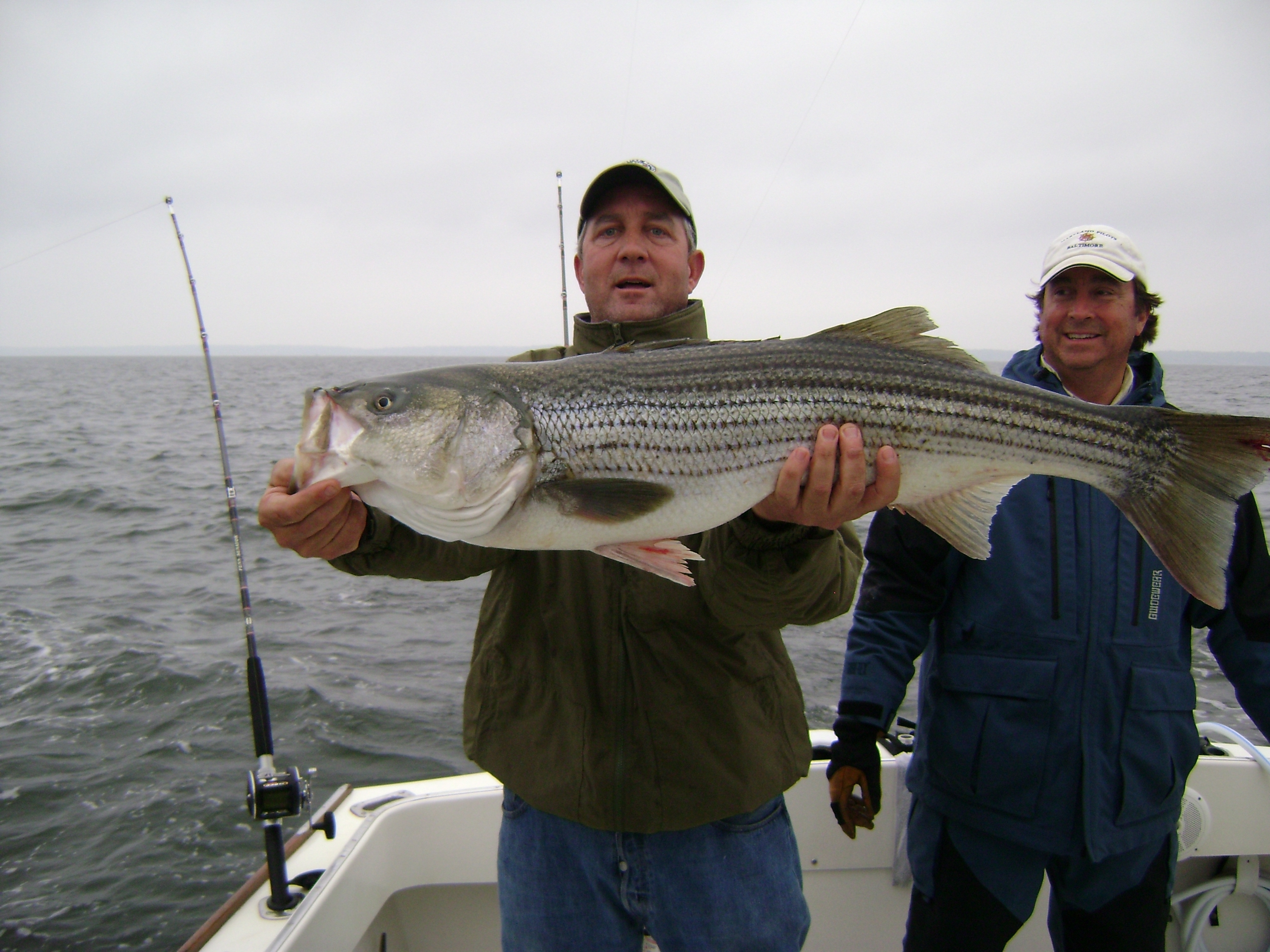 catching a large fish on TWT Fishing Charters